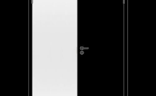 Полотно дверное ответная часть глухое ОЛОВИ М7x21Белое крашенное