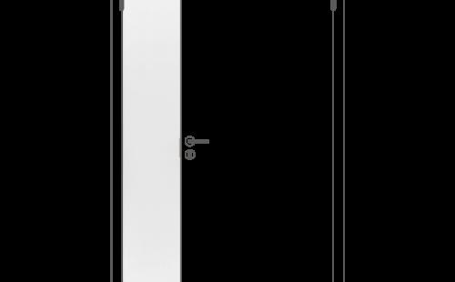 Полотно дверное ответная часть глухое ОЛОВИ М3x21 Белое крашенное