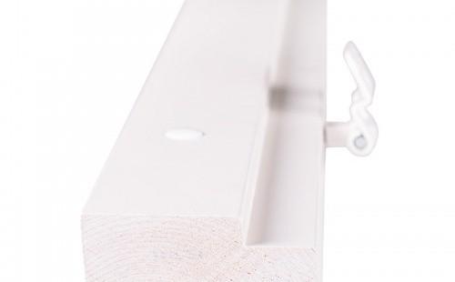 Стоевые однопольной дверной коробки ОЛОВИ 2 петли М21 Белая крашенная