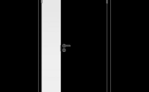 Полотно дверное глухое отв. ч. ОЛОВИ крашенное Белое 300x2000 мм с/ф