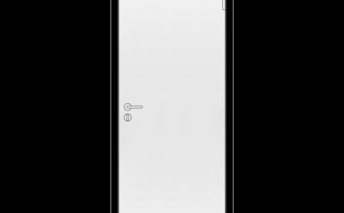 Дверное полотно Олови М9х21 крашенное, белое, без механизма замка