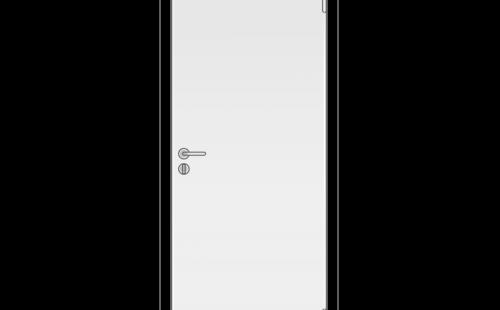 Полотно дверное глухое ОЛОВИ крашенное Белое 600x2000 мм