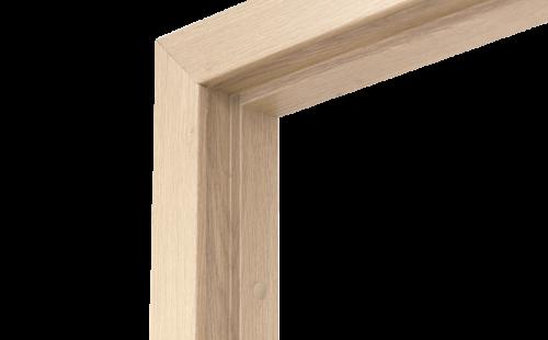 Коробка дверная ОЛОВИ Беленый дуб 600 мм с фурнитурой