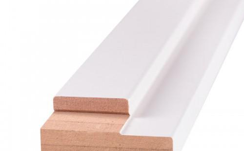 Порог дверной ОЛОВИ Белый ламинированный для дверей без притвора 640 мм