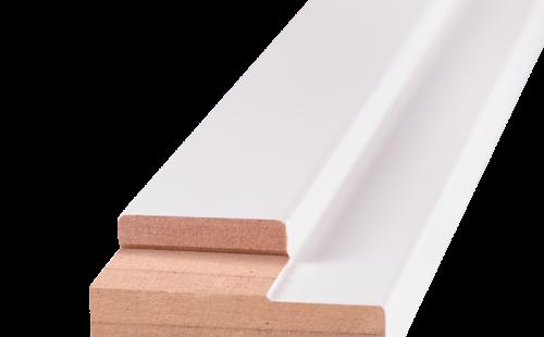 Порог дверной ОЛОВИ Белый ламинированный для дверей без притвора 740 мм