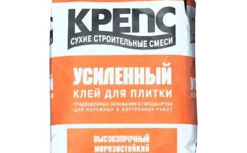 КРЕПС Клей для плитки Усиленный, 5 кг.