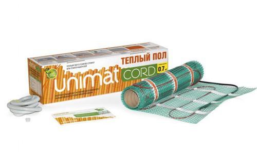 UNIMAT CORD Теплый пол (мат нагревательный), комплект 98 Вт (0,7м2) 2-жил.