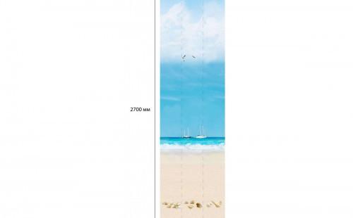 "АКВАТОН Панель ПВХ пласт. ""Панорама Новита"" Пляж Альберо (Добор) 2,7*0,25 (уп=12шт=8,1м2)"