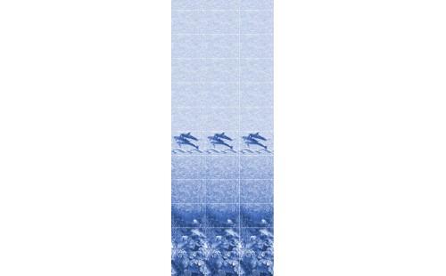 """АКВАТОН Панель ПВХ пласт. """"Фриз"""" Дельфины Синий 2,7*0,300 (уп=10шт=8,1м2)"""