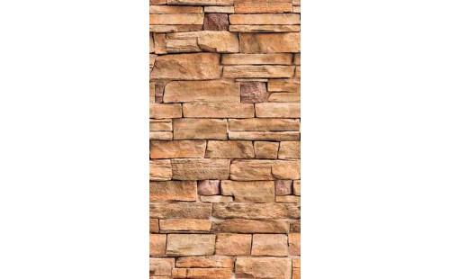Панель ПВХ Дикий камень бежевый 344 2,7*0,25 (уп=10шт=6,75м2)