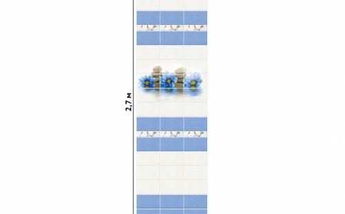 "АКВАТОН Панель ПВХ пласт. ""Новита"" Каприз (Узор) 2,7*0,25 (уп=12шт=8,1м2)"