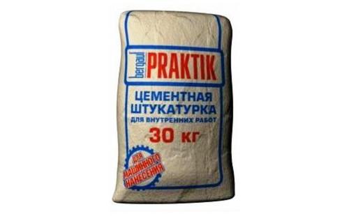 БЕРГАУФ Практик штукатурка цементная для внутренних работ (30кг)