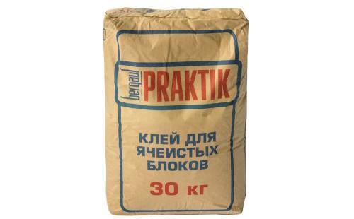 БЕРГАУФ Практик клей для ячеистых блоков, морозостойкий (30кг)
