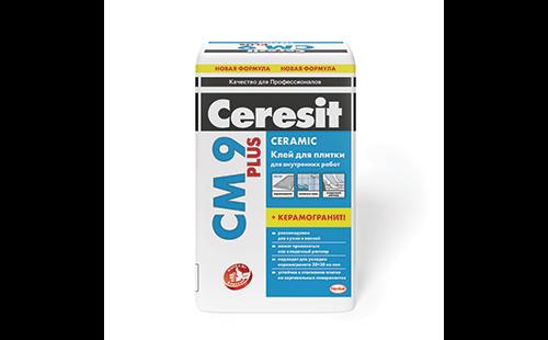 ЦЕРЕЗИТ CM9 Клей для тонкослойного крепления плитки для внутр-х работ (25кг)