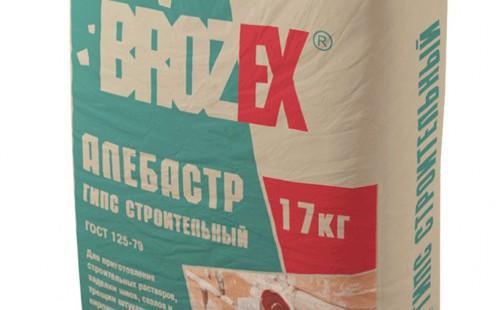 БРОЗЕКС Гипс строительный Г-5 (Алебастр) (17кг)