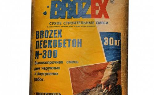БРОЗЕКС Пескобетон М300 Смесь высокопрочная для наружных и внутренних работ (30кг)