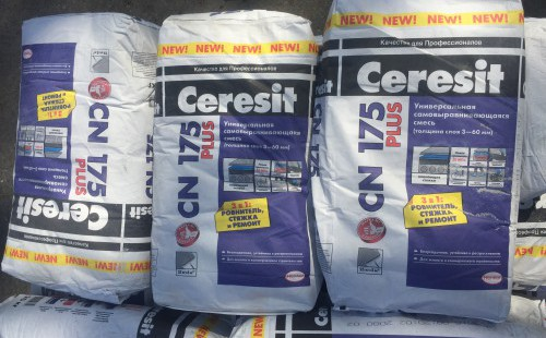 ЦЕРЕЗИТ (Ceresit) CN175 Универсальная самовыравнивающаяся смесь (25кг)